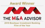 M&A Advisor 2019 Award Winner